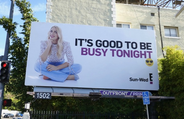 Busy Tonight series launch billboard