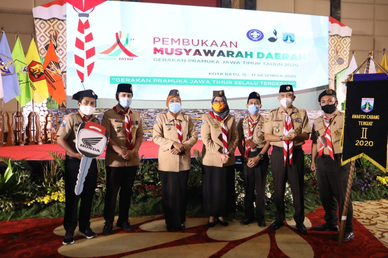 Pramuka Lumajang Dinilai Tergiat di Jawa Timur