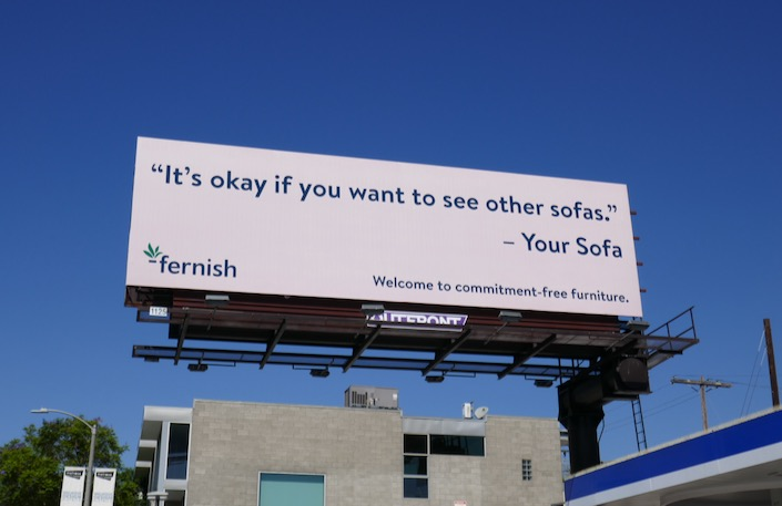 Fernish sofa billboard