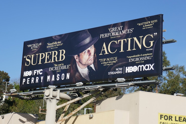 Perry Mason season 1 FYC billboard