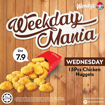 Wendy's Malaysia Chicken Nuggets Discount Promo