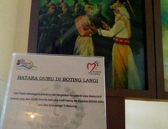 Lukisan Batara Guru di Museum La Galigo, Benteng Rotterdam, Makassar