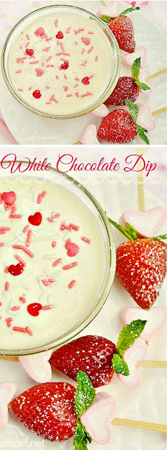 Thee BEST Dip for Valentine's Day - Cookies, fruit ....