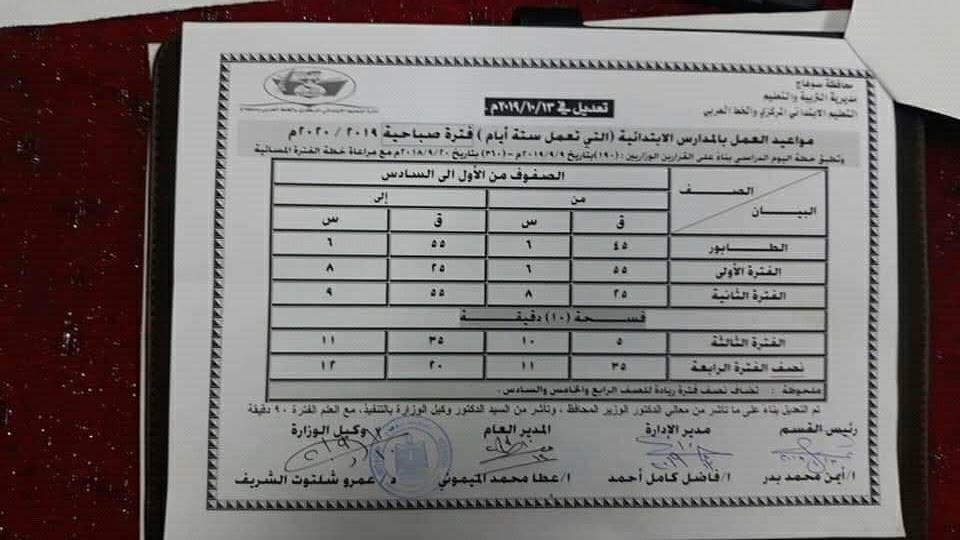 """تعديل مواعيد اليوم الدراسى بمحافظة سوهاج """"مستند"""" 0%2B%25286%2529"""