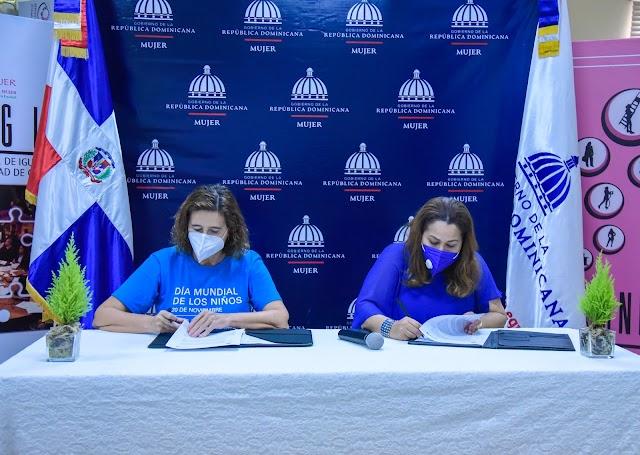 Ministerio de la Mujer y Unicef firman convenio