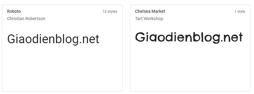 Hướng dẫn cài đặt Google Font cho blogspot