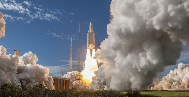 Arianespace's third Ariane 5 ES mission with Galileo satellites was performed from French Guiana on July 25, 2018. Credit: