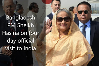Bangladesh PM Sheikh Hasina on four day official visit to India