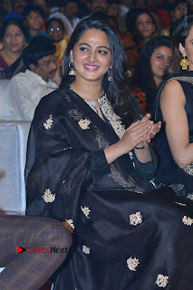 Actress Anushka Anushka Shetty Stills in Black Salwar Kameez at Om Namo Venkatesaya Audio Launch Event  0014.JPG