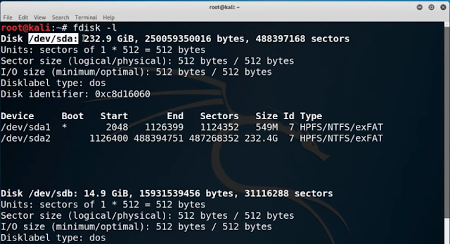 How to install Kali Linux in USB Pen Drive fdisk