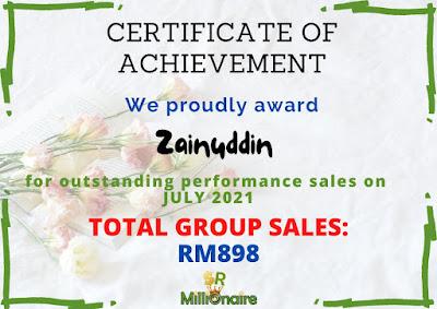 total sales shaklee julai 2021