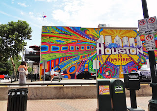 Houston Is Inspired Mural (mural on side wall of historic building)