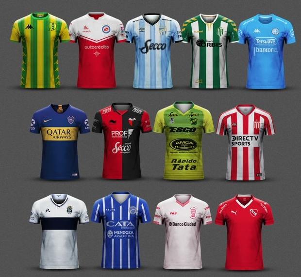 ba553d535c Confira todas as camisas titulares dos clubes do Campeonato Argentino 2018  19