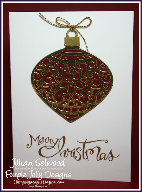 Christmas Card, Sassy Salutations, Gold Embossing power