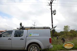 Διακοπή ηλεκτροδότησης σε περιοχές της Χαλκιδικής