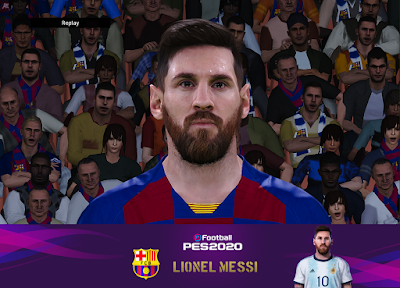 PES 2020 Faces Lionel Messi by Messi Pradeep