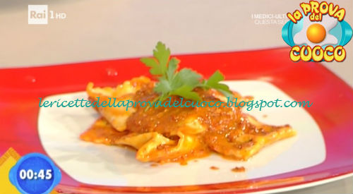 Ravioli alla crema di peperoni ricetta Ricchebono da Prova del Cuoco