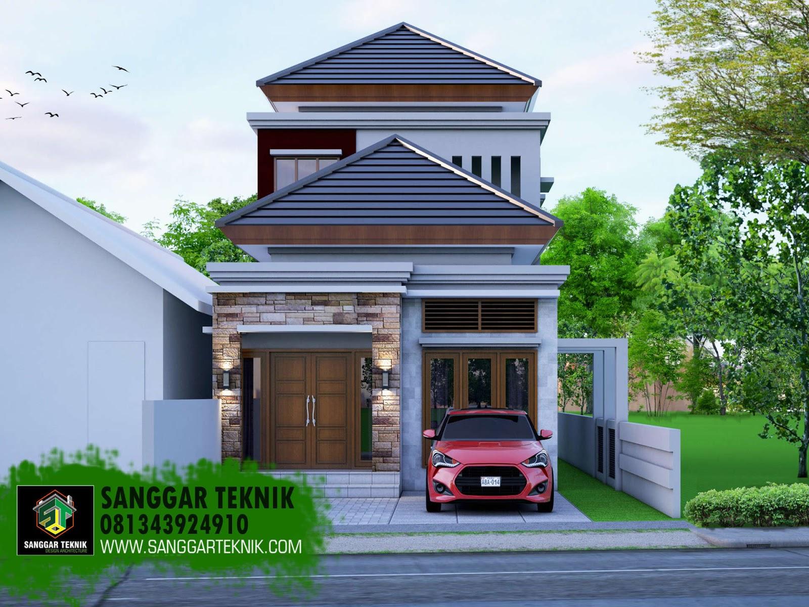 Desain Rumah Minimalis Modern 5 7 X 13 2 Lantai Sanggar Teknik