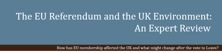 The EU referendum and the UK environment