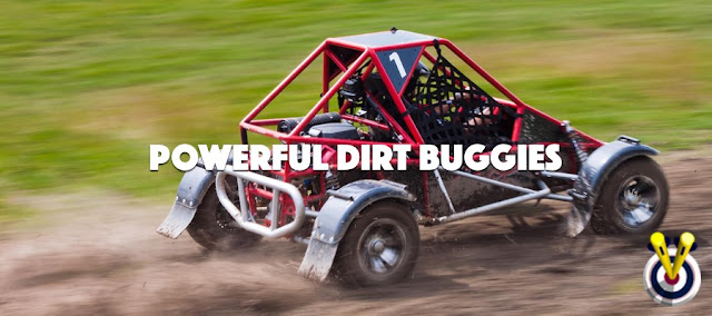 Rage Buggies kicking up dust / powerful dirt buggy
