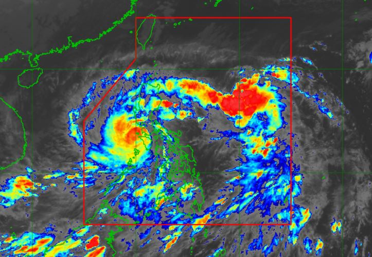 Satellite image of Typhoon Rolly (Goni) as of 5:00 pm