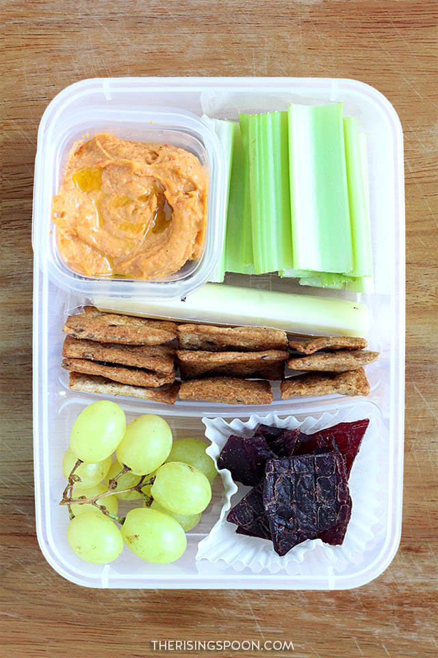 Healthy Make-Ahead Cold Lunch Idea (For Back to School & Work): Hummus & Jerky