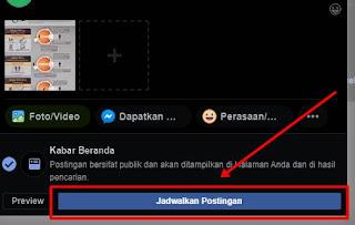 Cara Menerbitkan Postingan Terjadwal Di Halaman Facebook