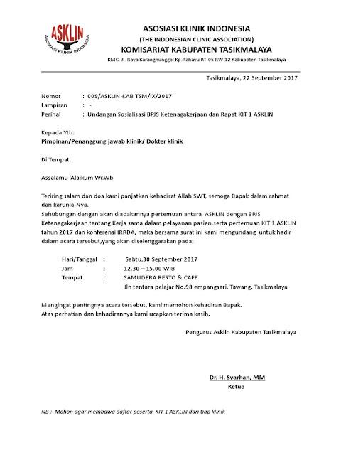 Contoh Surat Dinas Kesehatan (via: seratondang.blogspot.com)