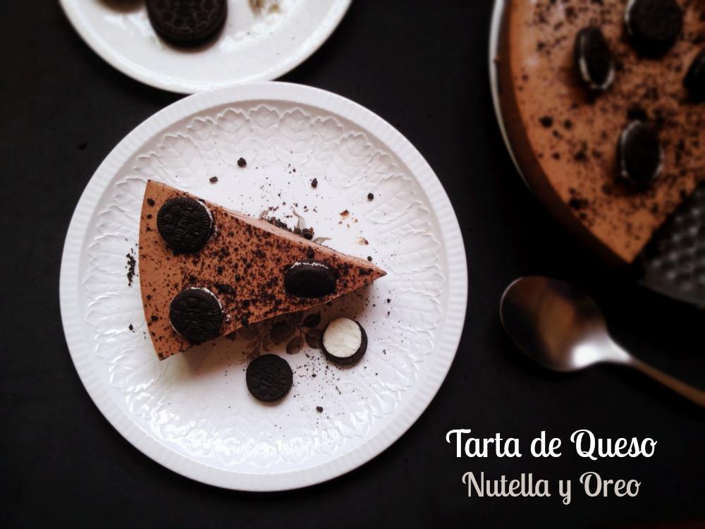 Tarta de  queso con Nutella y galletas Oreo