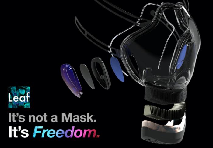 Leaf Transparent UV Mask Lets You Smile
