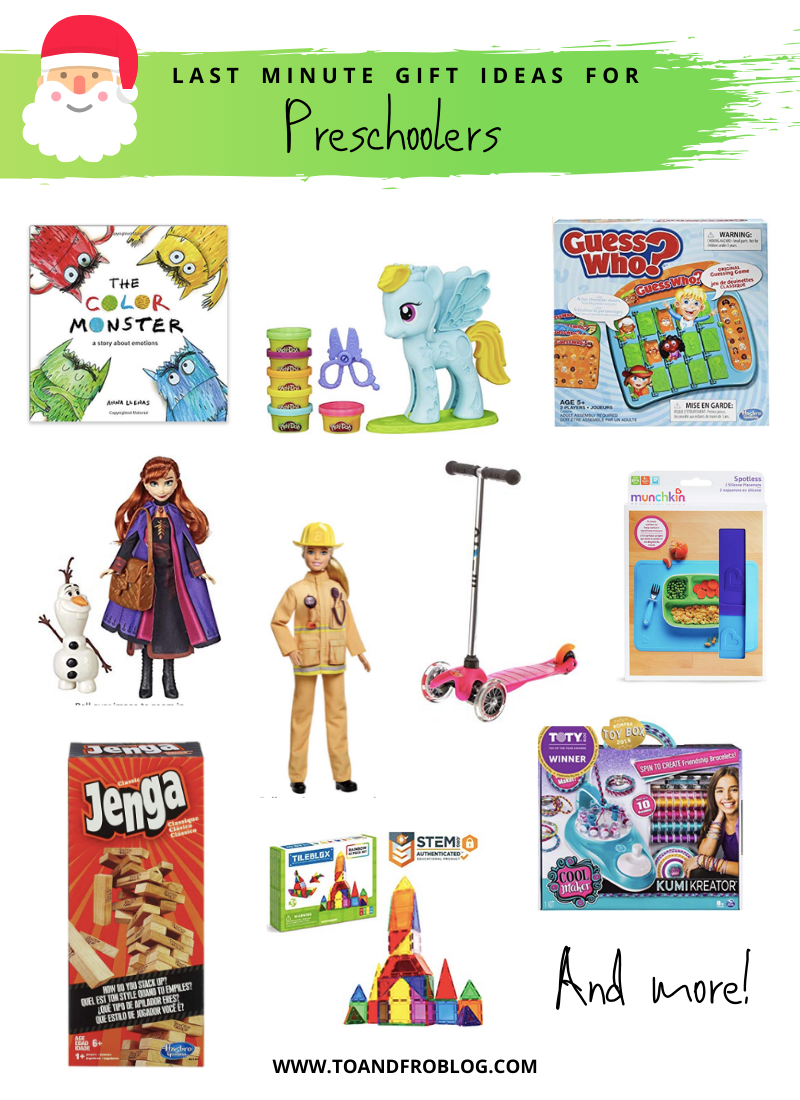 Last Minute Gift Ideas for Preschoolers