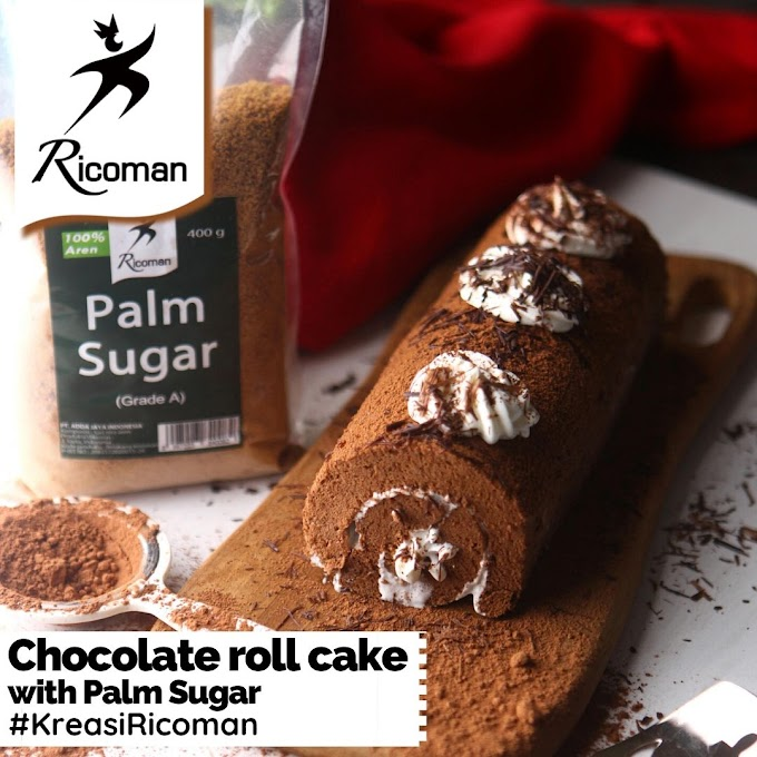 [RESEP] Chocolate Roll Cake with Palm Sugar