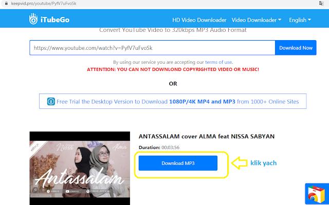 download mp3 youtube dari keepvid