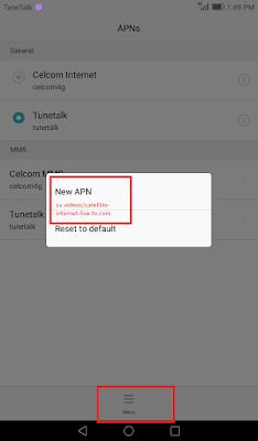 tunetalk halogo telco APN setting 5
