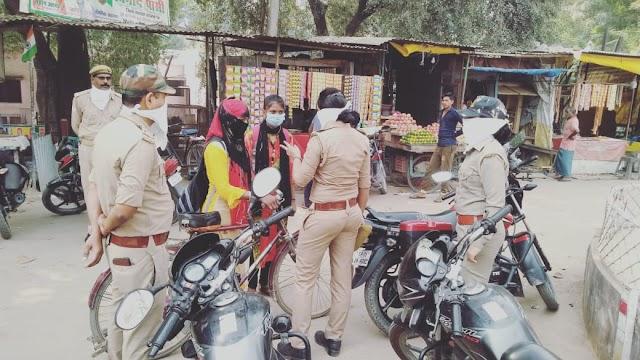 """*फतेहपुर में चलाया गया एंटीरोमियों चेकिंग एवं """"मिशन शक्ति"""" जागरूकता अभियान*"""