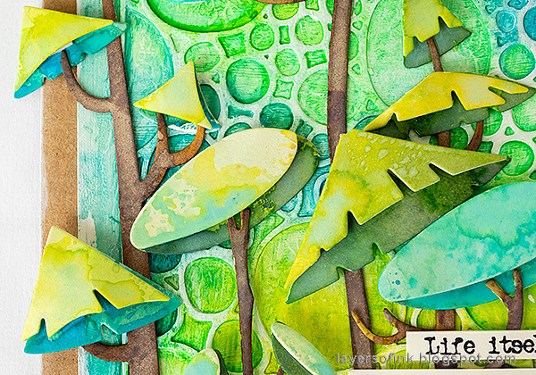 Layers of ink - Funky Forest Tutorial by Anna-Karin Evaldsson.