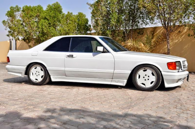 mercedes benz w126 560 sec amg white benztuning. Black Bedroom Furniture Sets. Home Design Ideas