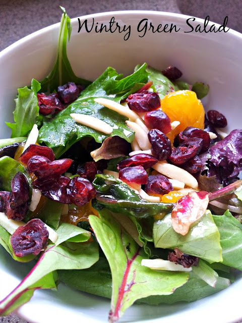 Great Holiday Side Salad with Citrus and Cranberries. Easy to assemble and delicious.