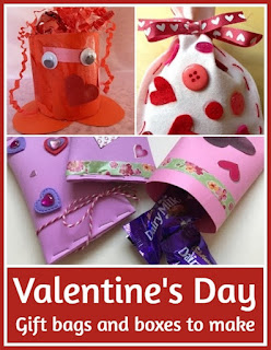 Valentine's Day gift bags and boxes to make