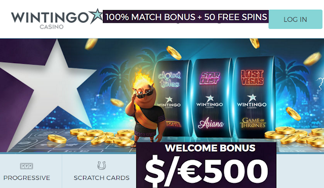 Wintingo Casino Homepage