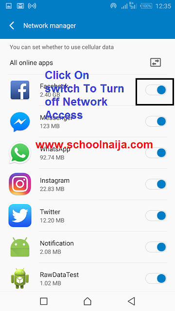 how to restrict data connection for apps