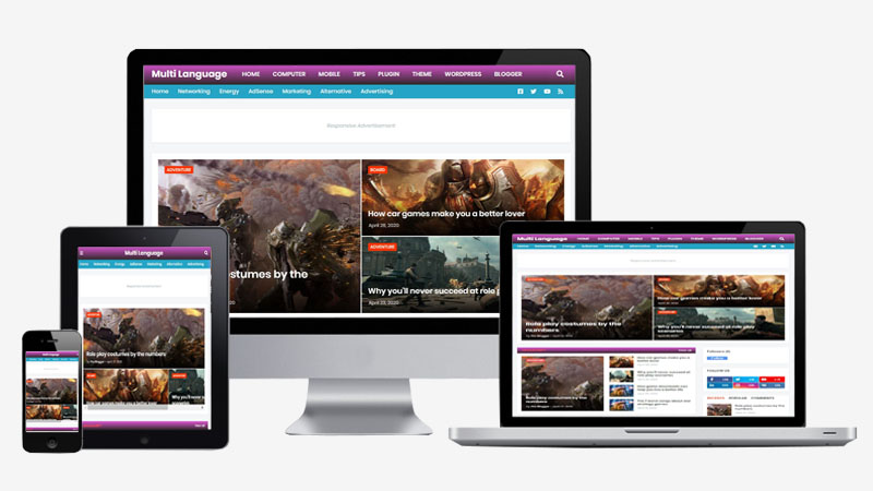 G Mag Premium Blogger Template