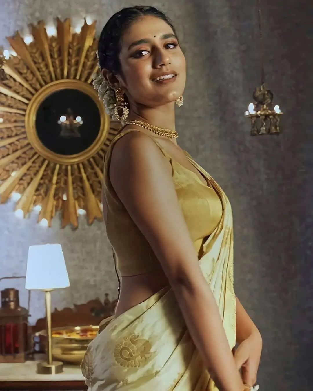 Actress Priya Prakash Varrier Latest Hot Photos in Saree