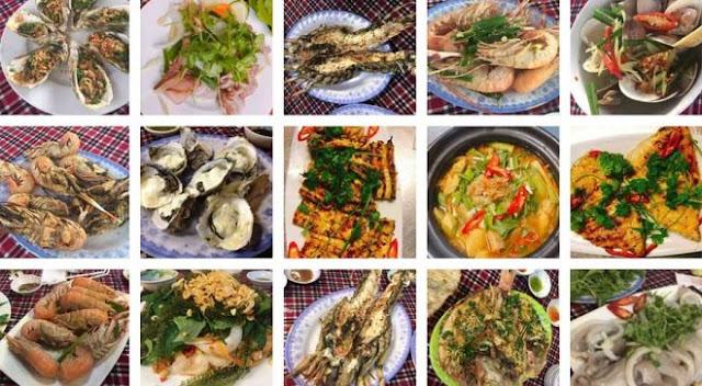 Kỳ Co có rất nhiều món ăn hải sản ngon