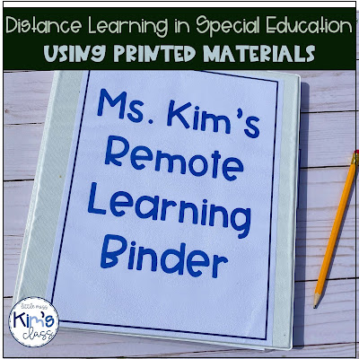 Online / Distance Learning in my Special Education Classroom