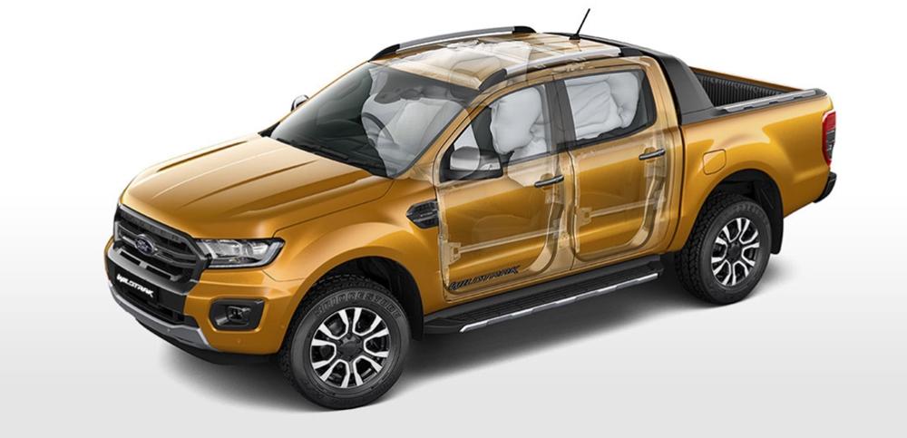 ford ranger wildtrak safety design airbag