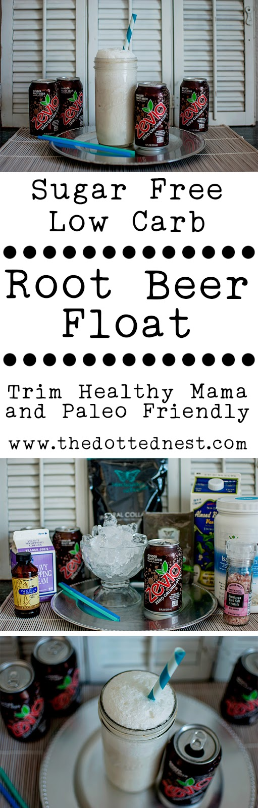 Root Beer Float Sugar Free and Low Carb Recipe Trim Healthy Mama and Paleo Friendly