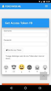 Facebook get token