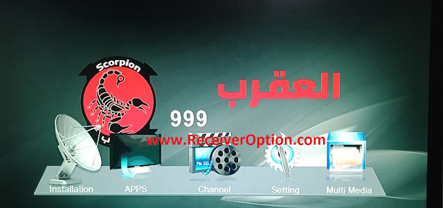 SCORPION 999 1506TV 512 4M NEW SOFTWARE WITH ECAST DIRECT BISS KEY ADD OPTION