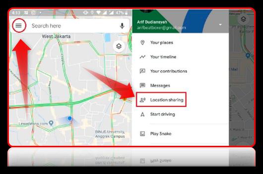 cara melacak posisi hp seseorang dengan google maps
